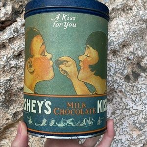 Original antique vintage Hershey's Kiss container